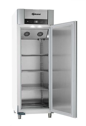 Gram SUPERIOR PLUS F 72 LAG L 4S Umluft-Tiefkühlschrank - 600 Liter - Weiß Edelstahl  für GN 2/1 längs