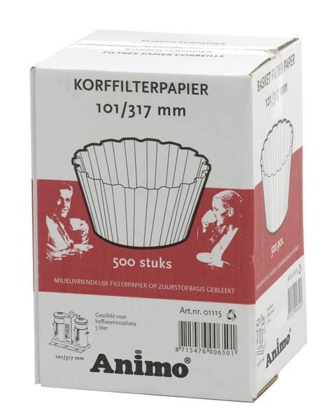 Animo CombiLine-Zubehör Korbfilterpapier 101/317 für CB 5 - 500 Blatt