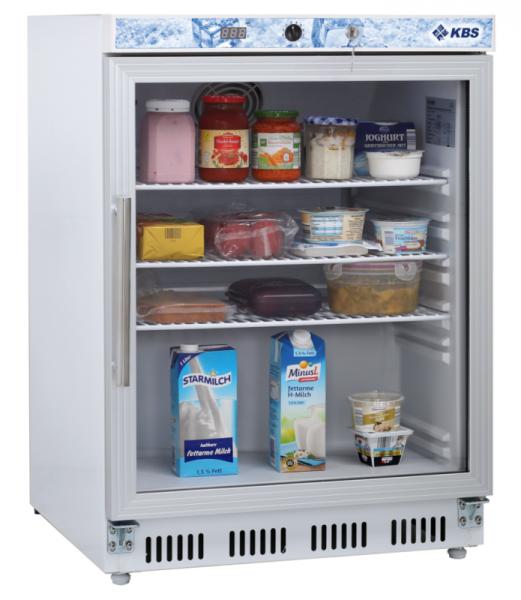 KBS Glastürkühlschrank KBS 202 GU - Umluft weiß