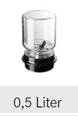 """Rotor Glasaufsatz mit Messerkopf """"Labor"""" - 0,5 Liter"""