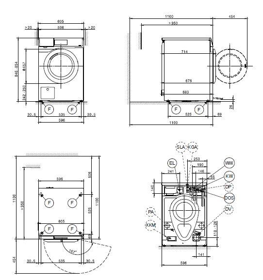 Gut bekannt Miele PWM 907 EL DP Waschmaschine mit Laugenpumpe Lotosweiß oder OX01