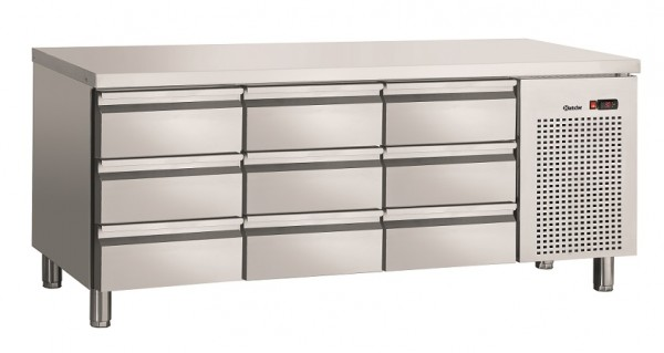 Bartscher S9-100 Kühltisch Umluft mit 9 Schubladen - Breite 1792 mm ohne Aufkantung