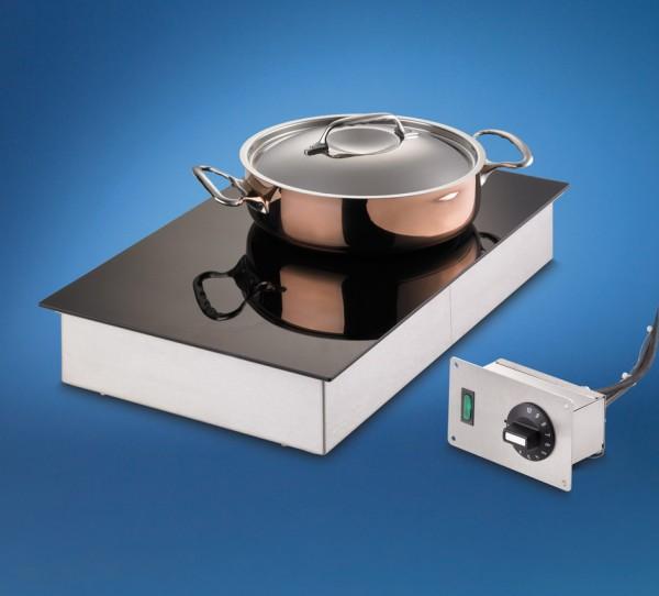 Scholl Wärmeplatte Ceran 26032/53/FB  zum flächenbündigen Einbau  Grösse 400 x 600 mm Bäckereinorm
