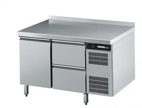 Chromonorm Kühltisch GN 1/1, 1 Tür und mit 2 Schubladen - Breite 1250 mm - CKTEK7211601-1/2