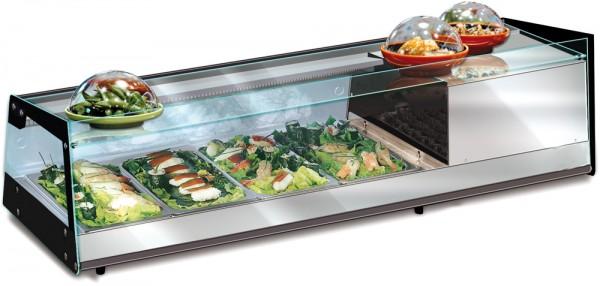 KBS Sushi 4 D - Breite 1000 mm  - 4 x GN 1/3 - Temp. +1 °C bis +10 °C